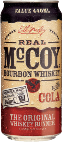 null REAL McCOY BOURBON 4.8% & COLA CAN 6PK 440ML