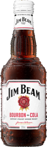 null Jim Beam White Label Bourbon & Cola Bottle 4X330ML
