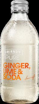 null Smirnoff Pure Ginger Lime & Soda Bottle 4X300ML