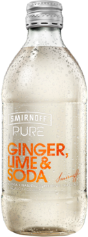 null Smirnoff Pure Ginger Lime & Soda Bottle 24X300ML