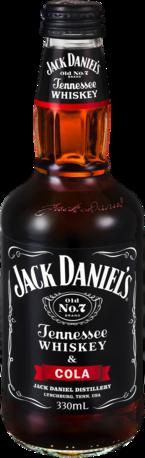 null Jack Daniels Tennessee Whiskey & Cola Btl 4X330ML
