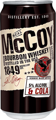 null Real McCoy Bourbon & Cola Can 24X375ML