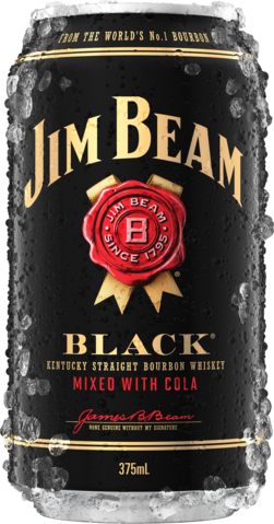 null Jim Beam Black Label Bourbon & Cola Can 4X375ML