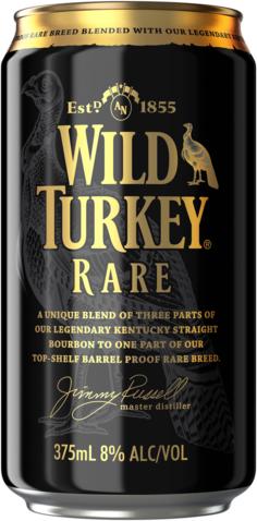 null Wild Turkey Rare & Cola 8% Can 4X375ML