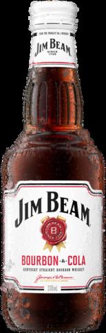 null Jim Beam White Label Bourbon & Cola Bottle 6X330ML