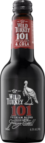 null Wild Turkey 101 Bourbon & Cola Bottle 4X340ML
