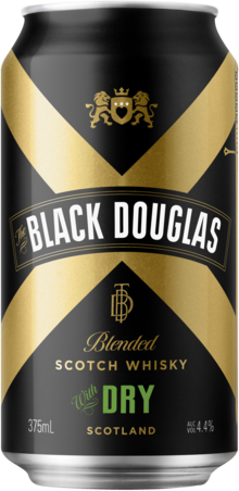 null Black Douglas Scotch & Dry Can 6X375ML
