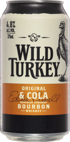 null Wild Turkey Bourbon & Cola 4.8% Can 24X375ML