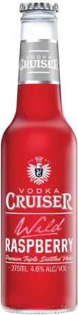null Cruiser Vodka & Raspberry Bottle 4X275ML