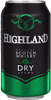 null Highland Scotch 4.8% & Dry Can 24X375ML