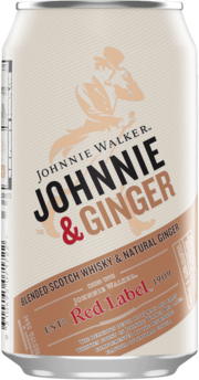 null Johnny Walker Scotch & Ginger Can 4X375ML