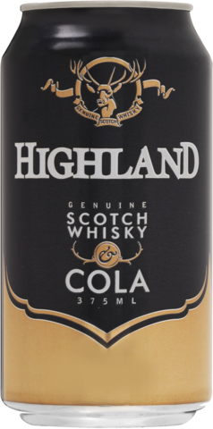 null Highland Scotch 4.8% & Cola Can 24X375ML