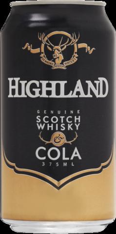 null Highland Scotch 4.8% & Cola Can 24X375ML