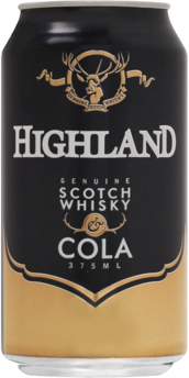 null Highland Scotch 4.8% & Cola Can 4X440ML