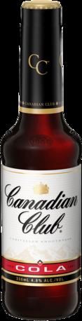 null Canadian Club & Cola 4.8% Bottle 4X330ML