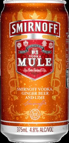 null Smirnoff Mule 4.8% Can 6X375ML