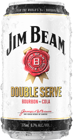 null Jim Beam Double Serve Bourbon & Cola 6.7% Can 4X375ML