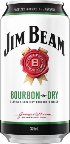 null Jim Beam White Label Bourbon & Dry 4.8% Can 24X375ML
