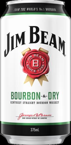 null Jim Beam White Label Bourbon & Dry 4.8% Can 4X375ML