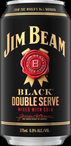 null Jim Beam Black Double Serve Bourbon & Cola 6.9% Can Ctn 375ML