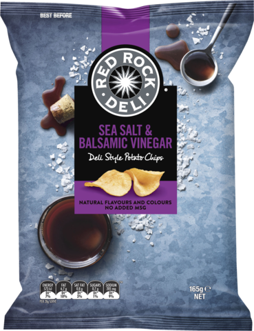 null Red Rock Salt & Vinegar 165gm