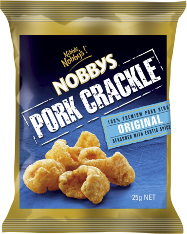 null Nobbys Pork Crackle Orig 25gm