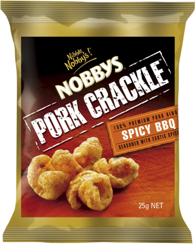 null Nobbys Pork Crackle Spicy BBQ 25gm