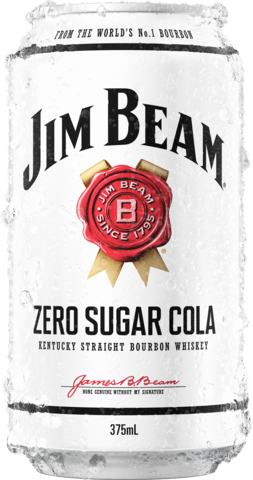 Jim Beam White Label Bourbon & Zero Can Cube 24X375ML