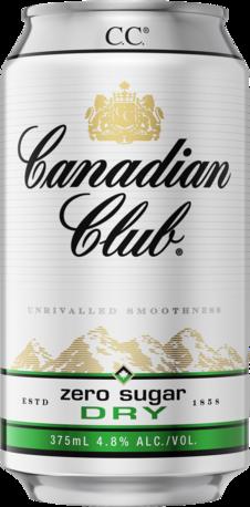 Canadian Club & Dry Zero 4.8% Can Cube 24X375ML