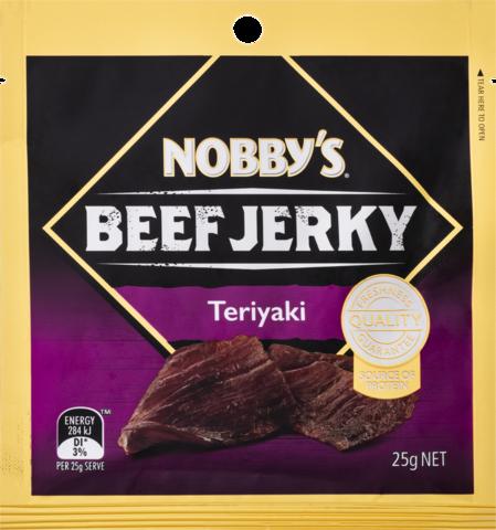 null Nobbys Beef Jerky Teriyak 25gm