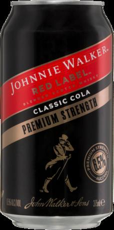 null Johnnie Walker Scotch Premium Can 24X375ML