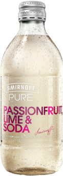 null Smirnoff Pure Passion Lime & Soda Bottle 4X300ML
