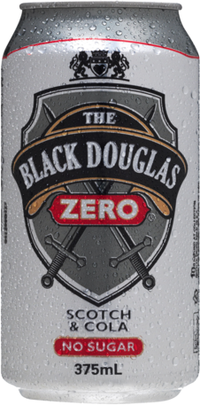 null Black Douglas Scotch & Zero Can 24X375ML