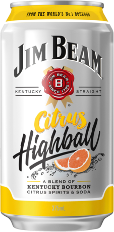 null Jim Beam Citrus Highball Can 6X375ML