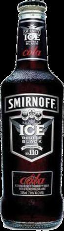 null Smirnoff Dblk Cola Bottle 24X335ML