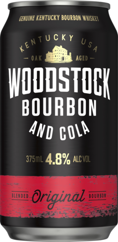 null Woodstock Bourbon & Cola 4.8% Can Cube 24X375ML