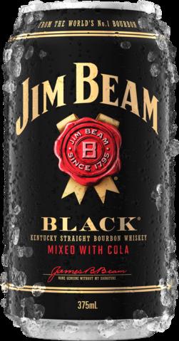 null Jim Beam Black Label Bourbon & Cola Can 6X375ML