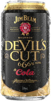 null Jim Beam Devils Cut Bourbon & Cola Can 4X375ML