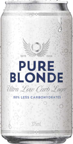 null Pure Blonde Can 6X375ML