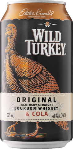 null Wild Turkey Bourbon & Cola 4.8% Can 6X375ML
