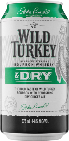 null Wild Turkey Bourbon & Dry 4.8% Can 6X375ML