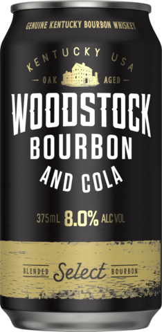 null Woodstock Bourbon & Cola 8% Can 10X375ML