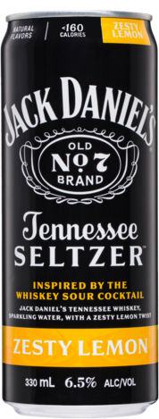 Jack Daniels Zesty Lemon 6.5% Seltzer Can 4X330ML
