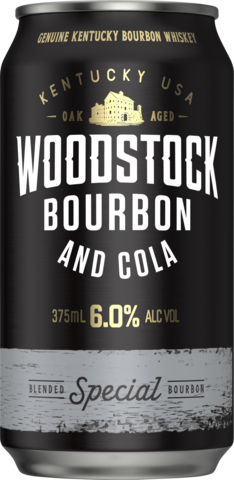 null Woodstock Bourbon & Cola 6% Can 6X375ML