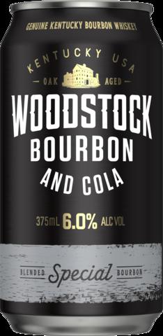 null Woodstock Bourbon & Cola 6% 4 x 6 x 375ml