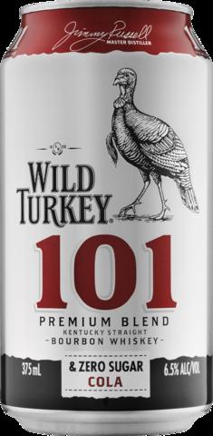 null Wild Turkey & Cola Zero 4 x 375mL Can