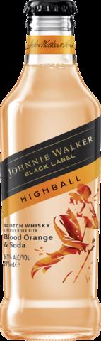 Johnnie Walker 6.3% Blood Orange Highball Btl 4X275ML