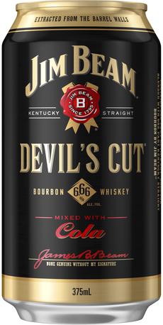 null Jim Beam Devils Cut Bourbon & Dry 4X375ML