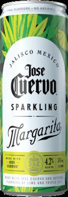 Jose Cuervo Sparkling Margarita Can 4X330ML