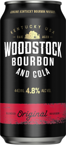null Woodstock Bourbon & Cola 4.8% Can 4X440ML